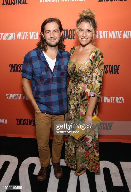 Michael Angarano and Ari Graynor attend the Opening Night Performance of 'Straight White Men' at the Hayes Theatre on July 23 2018 in New York City