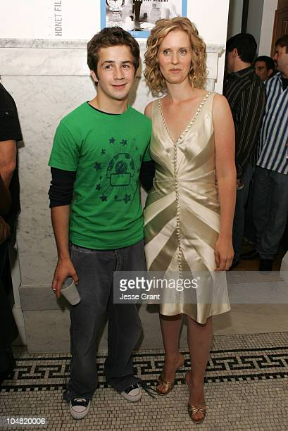 Michael Angarano and Cynthia Nixon during 2005 Toronto Film Festival HD Net Films Party at Premiere Lounge at Club Monaco in Toronto Canada