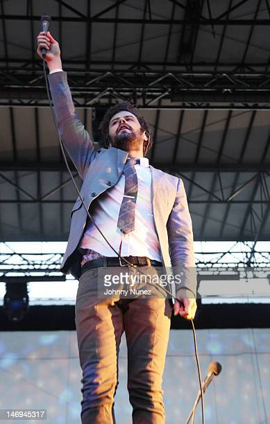 Michael Angelakos of Passion Pit performs during the 2012 Governors Ball Music Festival at Randall's Island on June 23 2012 in New York City