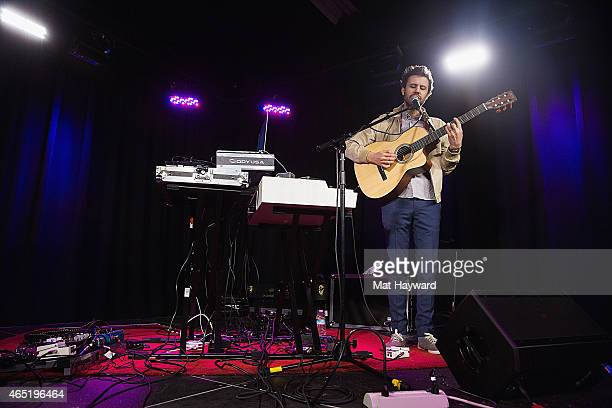 Michael Angelakos of Passion Pit performs on stage during an EndSession hosted by 1077 The End at B47 Studios on March 3 2015 in Seattle Washington
