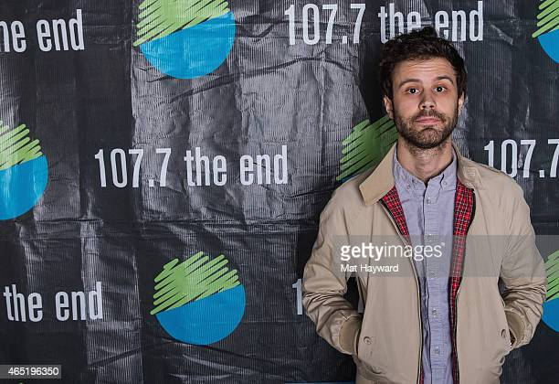 Michael Angelakos of Passion Pit poses for a photo after performing an EndSession hosted by 1077 The End at B47 Studios on March 3 2015 in Seattle...