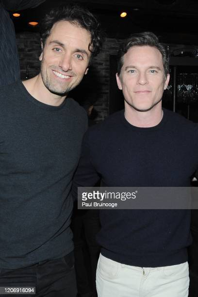 Michael Angelo Covino and Mike Doyle attend Sony Pictures Classics And The Cinema Society Host A Special Screening Of The Climb at iPic Theater on...
