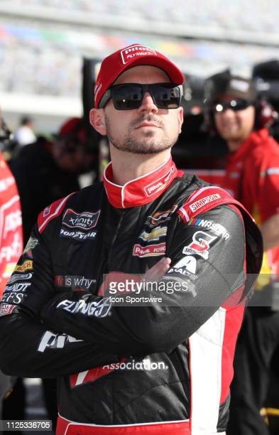 Michael Annett JR Motorsports Chevrolet Camaro Chevrolet Pilot Flying J during qualifying for the NASCAR Racing Experience 300 on February 16 2019 at...