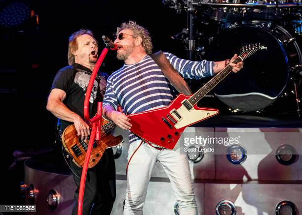 Michael Anthony and Sammy Hagar of Sammy Hagar And The Circle perform at DTE Energy Music Theater on May 22 2019 in Clarkston Michigan