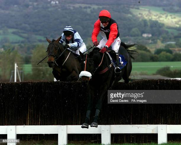 Michael Anthony Fitzgerald riding Phar From a Fiddle at Cheltenham races Photo David Davies