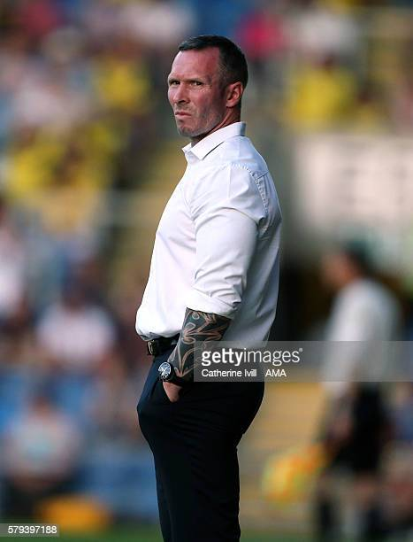 Michael Appleton manager of Oxford United during the PreSeason Friendly match between Oxford United and Leicester City at Kassam Stadium on July 19...
