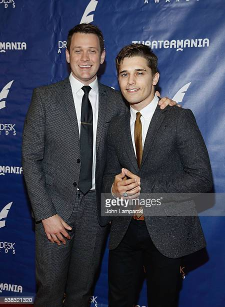 Michael Arden and Andy Mientus attend 2016 Drama Desk Awards at Anita's Way on June 5 2016 in New York City