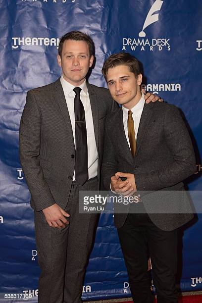 Michael Arden and Andy Mientus attend the 2016 Drama Desk Awards at Anita's Way on June 5 2016 in New York City