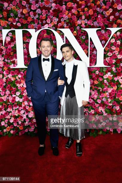 Michael Arden and Andy Mientus attend the 72nd Annual Tony Awards at Radio City Music Hall on June 10 2018 in New York City