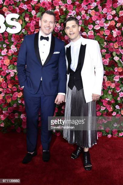 Michael Arden and Andy Mientus attend the 72nd Annual Tony Awards on June 10 2018 in New York City