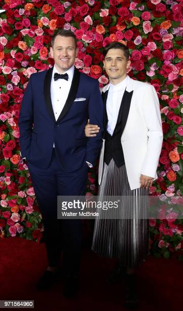 Michael Arden and Andy Mientus attend the 72nd Annual Tony Awards on June 10 2018 at Radio City Music Hall in New York City