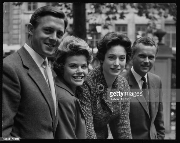 Michael Aspel Judith Chalmers Nan Winton and Kenneth Kendall are taken on by BBC Television to announce the evening programmes