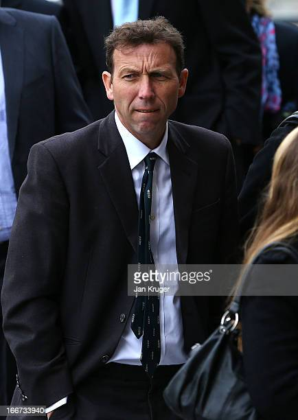 Michael Atherton attends a memorial service to journalist and former president of the MCC Christopher MartinJenkins MBE at St Paul's Cathedral on...