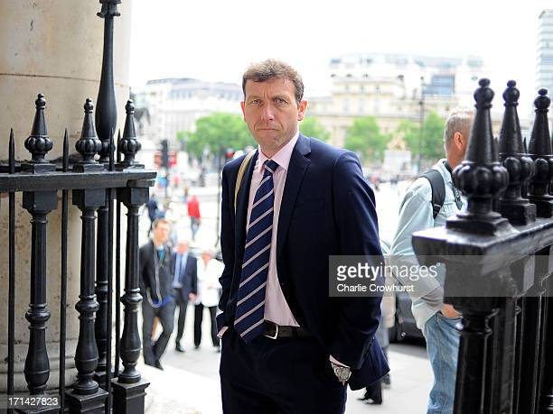 Michael Atherton attends the Memorial Service for former Cricketer Tony Greig on June 24 2013 in London England