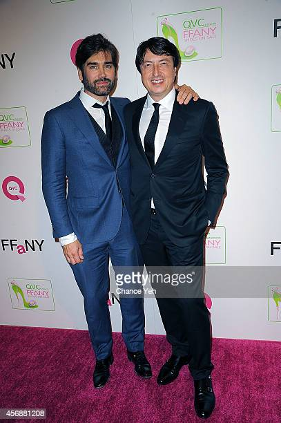 Michael Atmore and Gianvito Rossi attends the 2014 FFANY Shoes On Sale Gala at The Waldorf=Astoria on October 8 2014 in New York City