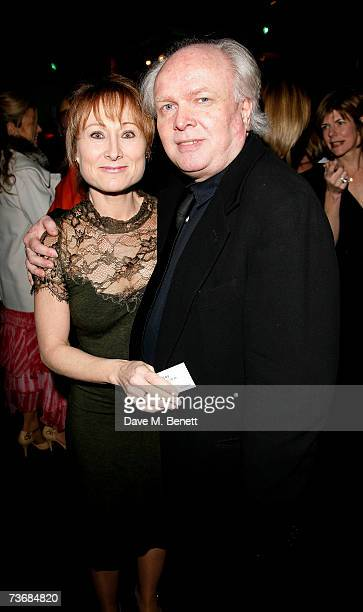 Michael Attenborough and wife Karen Lewis attend the a fundraiser party for the Almeida Theatre at the Almeida Theatre on March 23 2007 in London...