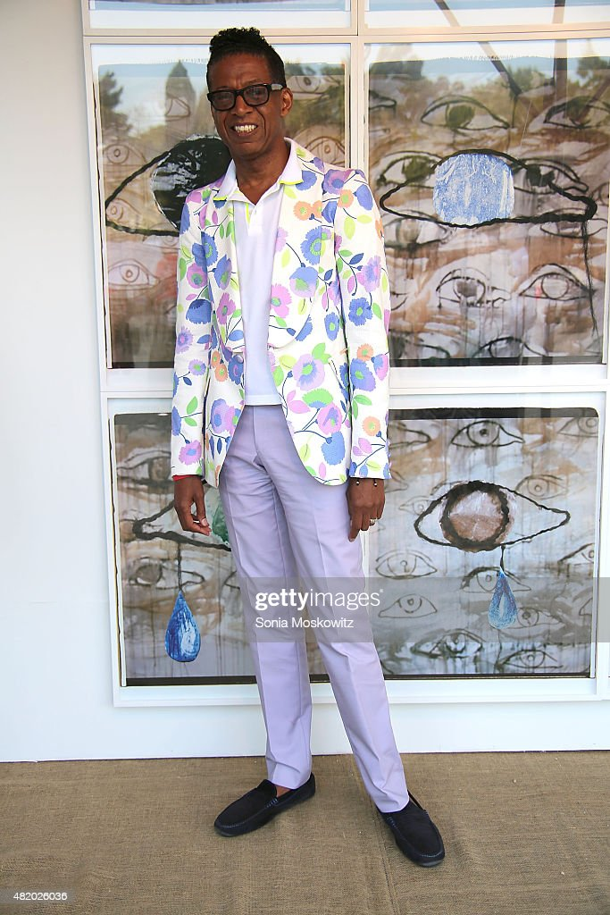 B Michael attends the 22nd Annual Summer Benefit and Auction at The Watermill Center, 'Circus of Stillness', on July 25, 2015 in Water Mill, New York.