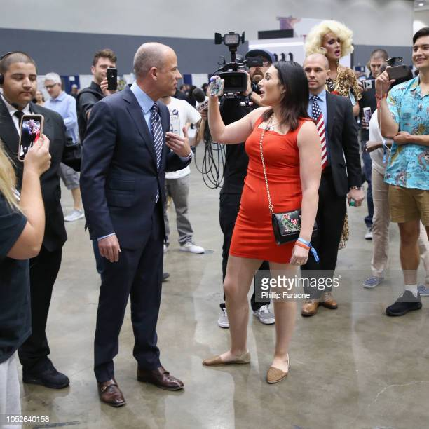 Michael Avenatti and Laura Loomer attend Politicon 2018 at Los Angeles Convention Center on October 20 2018 in Los Angeles California