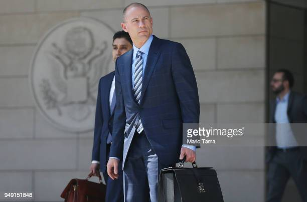 Michael Avenatti attorney for Stephanie Clifford also known as adult film actress Stormy Daniels leaves the US District Court for the Central...