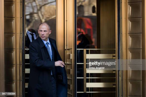 Michael Avenatti attorney for Stormy Daniels exits the United States District Court Southern District of New York for a hearing related to Michael...