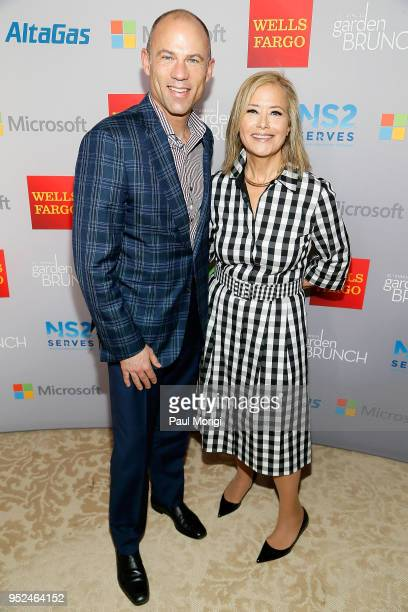 Michael Avenatti Counsel for Stormy Daniels and Hillary Rosen attend the 25th annual White House Correspondents' Garden Brunch at BeallWashington...