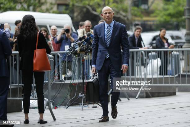 Michael Avenatti lawyer of adultfilm actress Stormy Daniels exits the United States District Court Southern District of New York after speaking with...