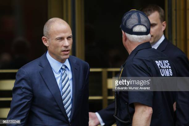 Michael Avenatti lawyer of adultfilm actress Stormy Daniels exits the United States District Court Southern District of New York on May 30 2018 in...