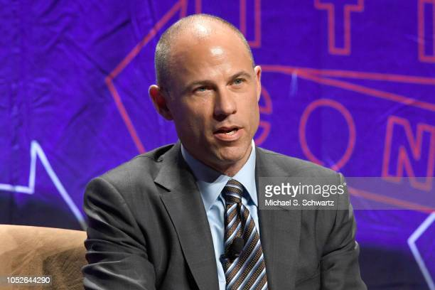 Michael Avenatti speaks onstage at Politicon 2018 at Los Angeles Convention Center on October 20 2018 in Los Angeles California