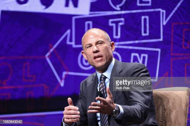 Michael Avenatti speaks onstage during Politicon 2018 at Los Angeles Convention Center on October 20 2018 in Los Angeles California