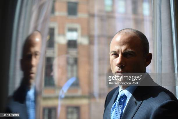 Michael Avenatti the attorney for Stormy Daniels who allegedly had an affair with Donald Trump is seen at the Park Hyatt Hotel in Manhattan NY...