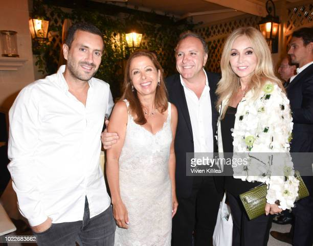 Michael Azoulay Karine Ohana Daniel Bohbot and Anastasia Soare attend Ohana Co LA Event Brands With Mission at The Peninsula Beverly Hills on August...