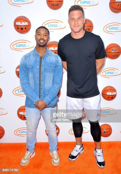 Michael B Jordan and Blake Griffin at Lupus LA's MBJAM 17 on September 16 2017 in Marina del Rey California
