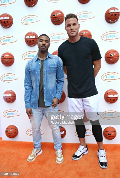 Michael B Jordan and Blake Griffin NBA attend Lupus LA's MBJAM17 at The RitzCarlton Marina del Rey on September 16 2017 in Marina del Rey California