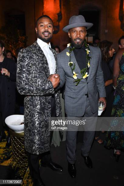 """Michael B. Jordan and Jamie Foxx attend the AT&T and Audi Canada post-screening event for """"Just Mercy"""" during the Toronto International Film Festival..."""