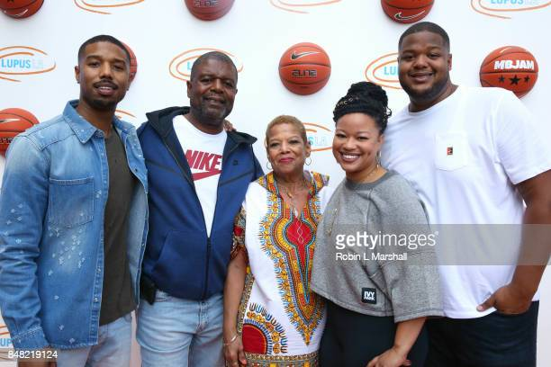 Michael B Jordan and Jordan family attend Lupus LA's MBJAM17 at The RitzCarlton Marina del Rey on September 16 2017 in Marina del Rey California