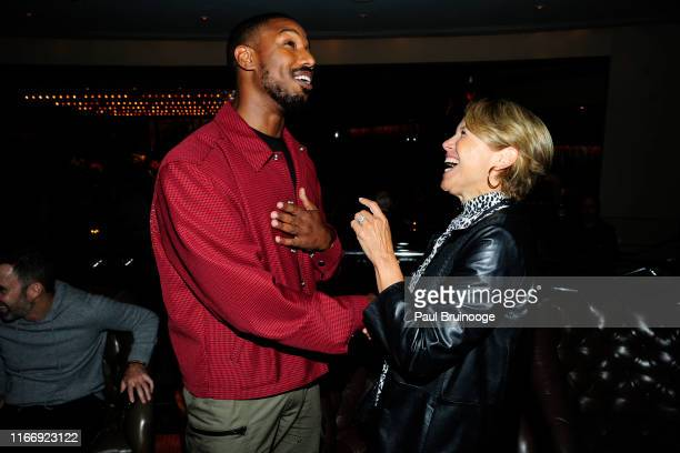 Michael B Jordan and Katie Couric attend Warner Bros Hosts A Reception for Just Mercy at 8 1/2 on September 8 2019 in New York City