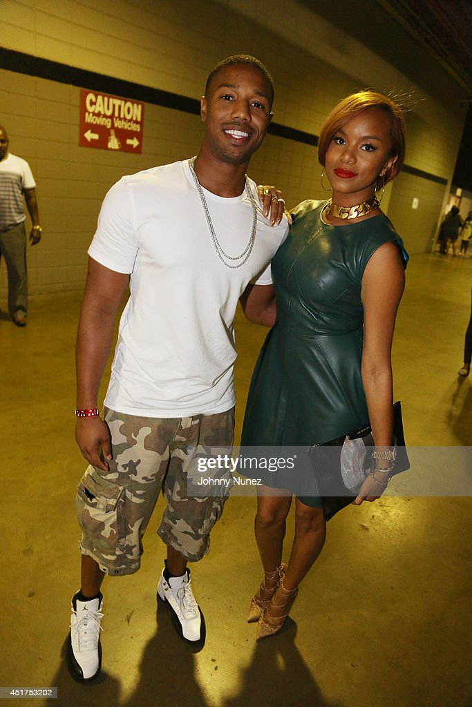 Michael B. Jordan and LeToya Luckett attend the 2014 Essence Music Festival on July 5, 2014 in New Orleans, Louisiana.