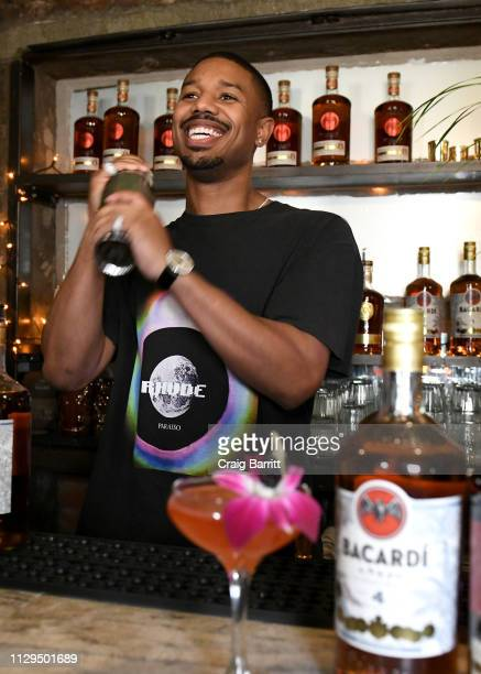 Michael B Jordan at the BACARDI Mixology Lab on February 13 2019 in New York City