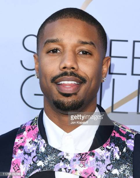 Michael B Jordan attends 25th Annual Screen Actors Guild Awards at The Shrine Auditorium on January 27 2019 in Los Angeles California