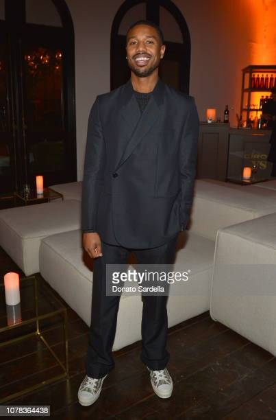Michael B Jordan attends a private dinner hosted by GQ and Dior in celebration of the 2018 GQ Men Of The Year Party on December 06 2018 in Los...