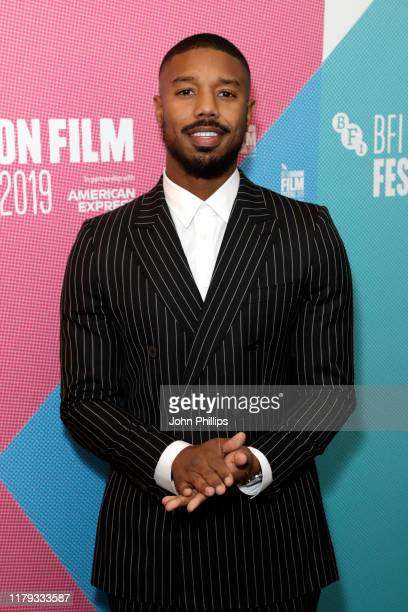 Michael B Jordan attends a Screen Talk during the 63rd BFI London Film Festival at the Odeon Luxe Leicester Square on October 06 2019 in London...