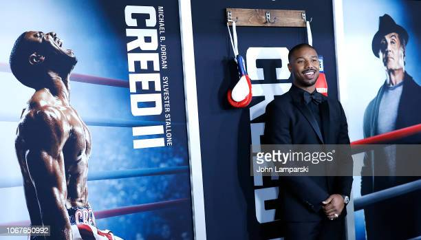 Michael B Jordan attends 'Creed II' New York Premiere at AMC Loews Lincoln Square on November 14 2018 in New York City