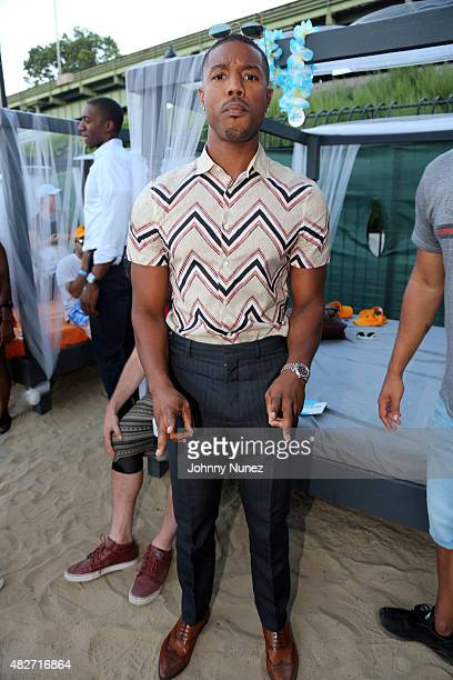 Michael B Jordan attends Fools Gold With Just Blaze presented by Electric Beach at La Marina Restaurant Bar Beach Lounge on August 1 in New York City