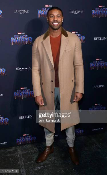 Michael B Jordan attends Marvel Studios Presents Black Panther Welcome To Wakanda during February 2018 New York Fashion Week The Shows at Industria...
