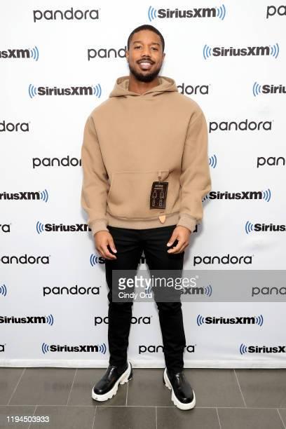 Michael B Jordan attends SiriusXM's Urban View 'Just Mercy' Town Hall with Michael B Jordan Jamie Foxx on December 17 2019 in New York City
