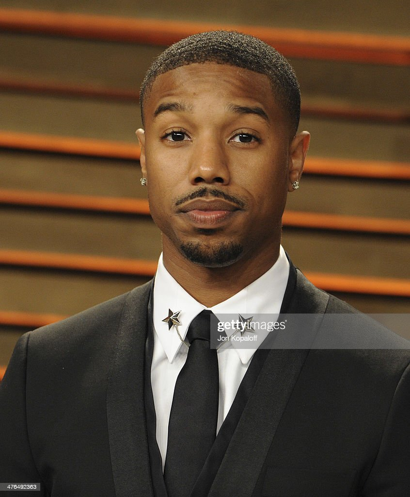 Michael B. Jordan attends the 2014 Vanity Fair Oscar Party hosted by Graydon Carter on March 2, 2014 in West Hollywood, California.