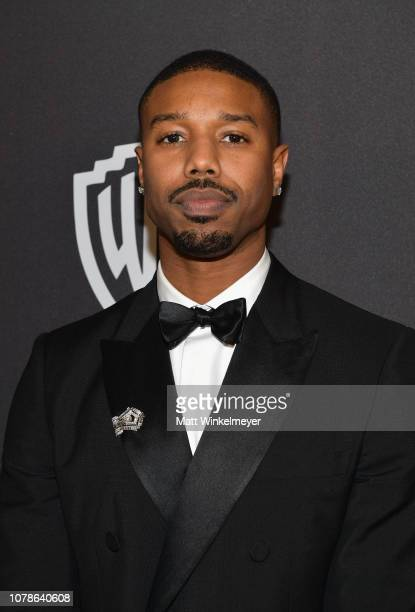 Michael B Jordan attends the 2019 InStyle and Warner Bros 76th Annual Golden Globe Awards PostParty at The Beverly Hilton Hotel on January 6 2019 in...