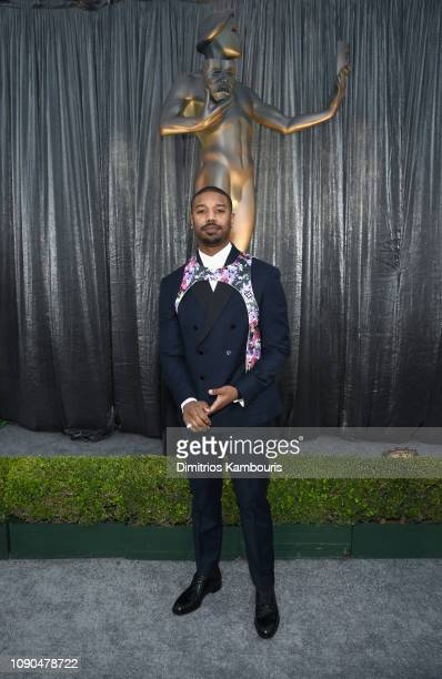 Michael B Jordan attends the 25th Annual Screen ActorsGuild Awards at The Shrine Auditorium on January 27 2019 in Los Angeles California 480595