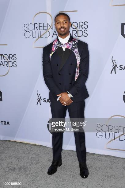 Michael B Jordan attends the 25th Annual Screen Actors Guild Awards at The Shrine Auditorium on January 27 2019 in Los Angeles California 480695