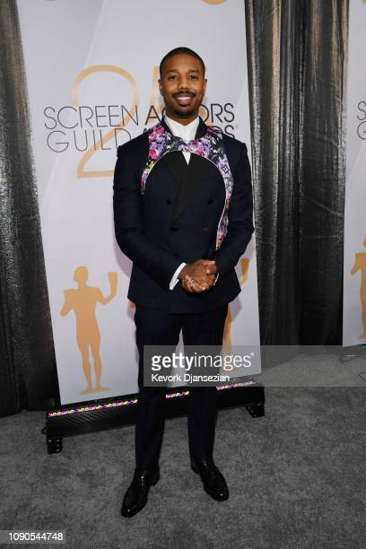 Michael B Jordan attends the 25th Annual Screen ActorsGuild Awards at The Shrine Auditorium on January 27 2019 in Los Angeles California